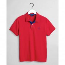 GANT Contrast Collar Piqué Polo Shirt