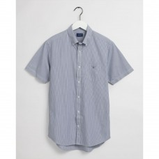 GANT Regular Fit Short Sleeve Banker Stripe Broadcloth Shirt