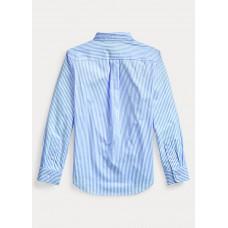 BOYS 6-14 YEARS Striped Cotton Poplin Shirt
