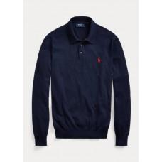 Cotton Polo-Collar Jumper