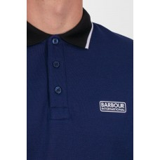 Barbour International Accelerator Contrast Pique Polo