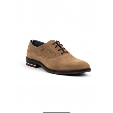 Tommy Hilfiger Mens Panelled Suede Oxford Shoes, Soft Brown
