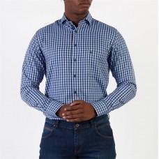 Tommy Hilfiger Navy - Poplin Check Slim Fit Shirt