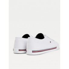 FLAG EMBROIDERY COTTON CANVAS TRAINERS
