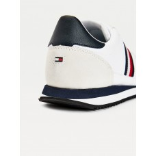LEATHER STRIPE TRAINERS