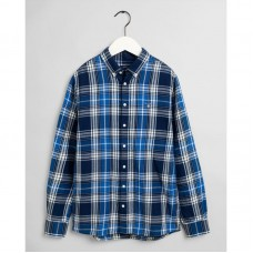 GANT Teen Boys Flannel Indigo Check Shirt