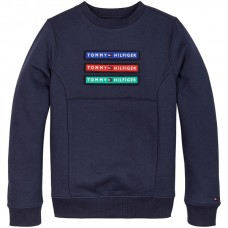 ORGANIC COTTON BLEND REMOVABLE BADGE SWEATSHIRT