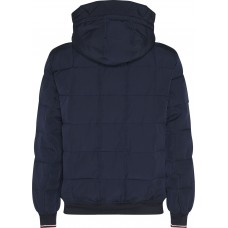 QUILTED HOODED BOMBER JACKET
