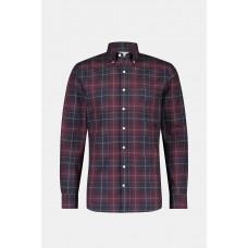 Regular Fit Burgundy Check Shirt