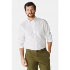 Regular Fit Poplin Shirt With Stretch