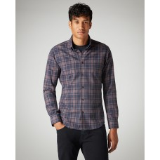 Slim Fit Checked Cotton-Blend Shirt