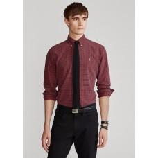 Slim Fit Plaid Oxford Shirt