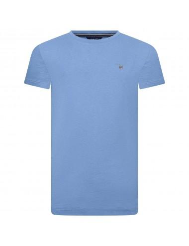 GANT BOYS BLUE COTTON ORIGINAL T-SHIRT