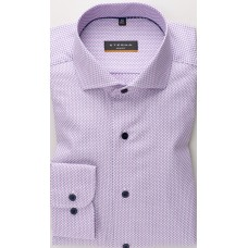ETERNA LONG SLEEVE SHIRT SLIM FIT KETTLANCÈ BLUE / ROSE STRUCTURED