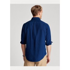Custom Fit Indigo Oxford Shirt